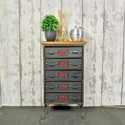 Industrial 5 Drawer Storage Unit