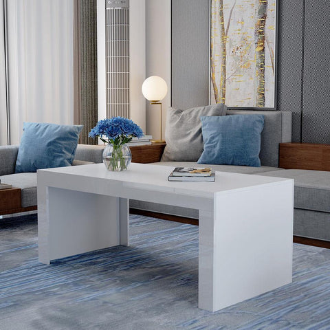 White Gloss Valencia Coffee Table