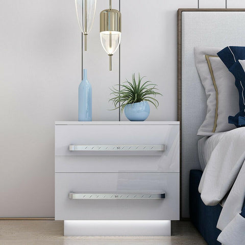 LED Bedside Table Cabinet