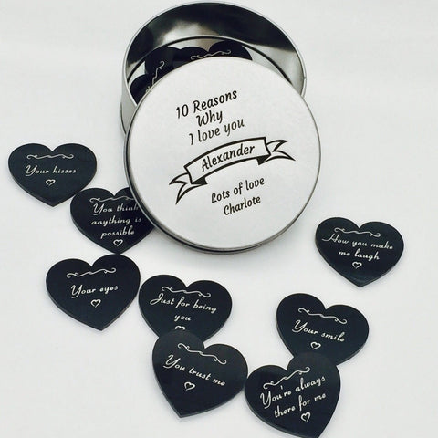 10 Reasons Why I Love You Personalised Tin