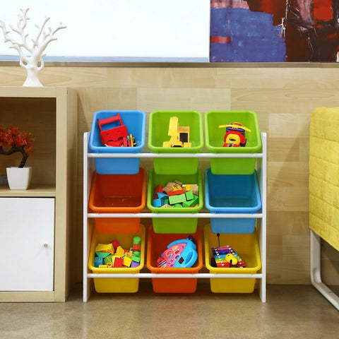 Childrens Playroom Storage Rack & Boxes