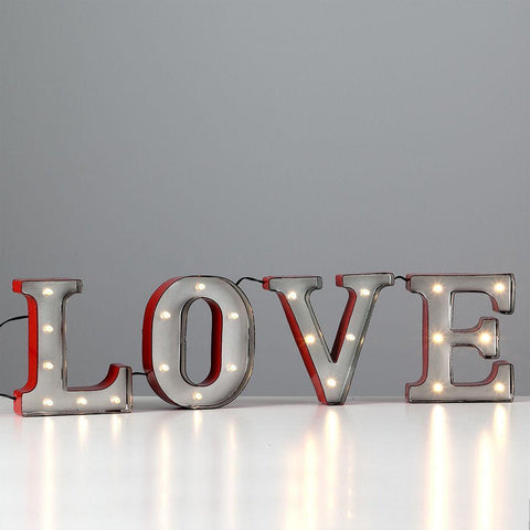 Metal LED Vintage Carnival Style LOVE Lights