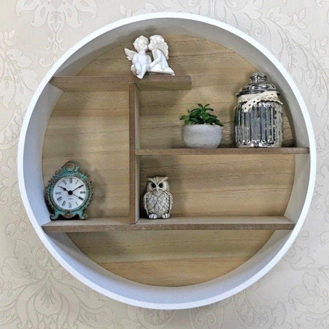 Circular Wooden Shelf