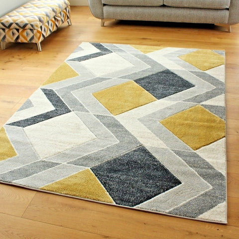 Geometric Waving Arrow Rug