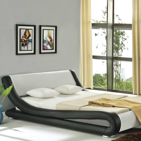 Black Italian Stylish Double Bed