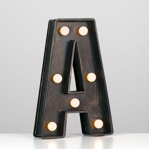 Battery Powered Decorative Vintage Letters
