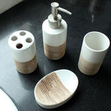Two Tone Set of 4 Bathroom Accessories