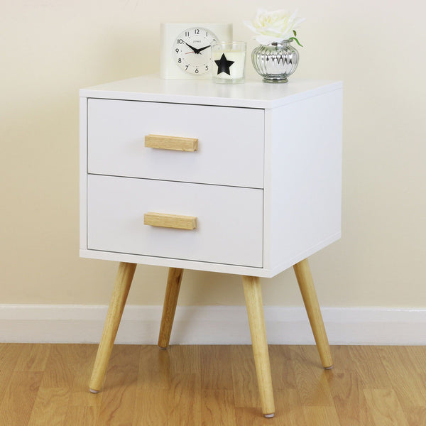 White Side Cabinet with Drawers