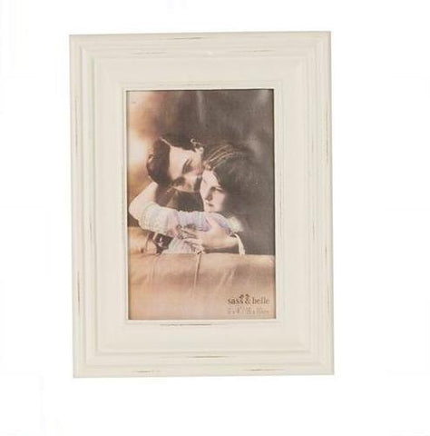 Distressed Paint Light Grey Photo Frame