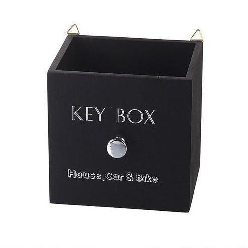 Black Wooden Key Box