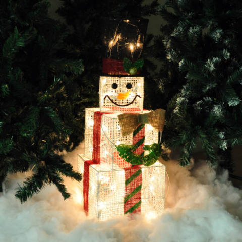 Large Box Snowman Light