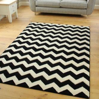 Black & White Chevron Rug