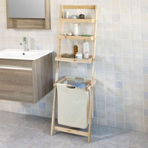 Bathroom Wall Ladder Shelves