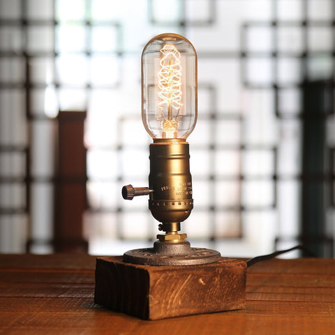 Wooden Edison Inspired Dimmable Nightlight