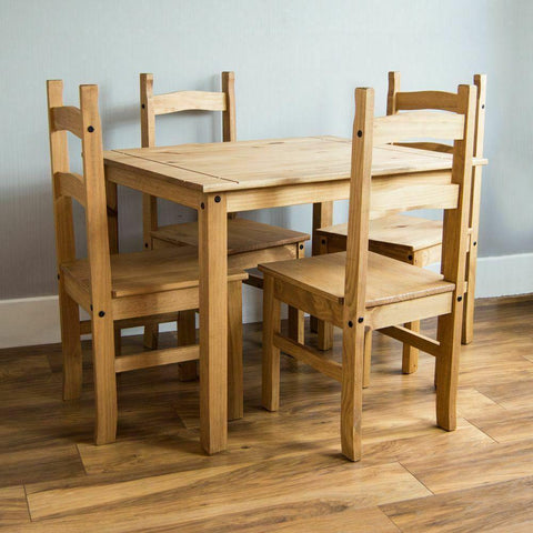 Solid Pine Wood Dining Set
