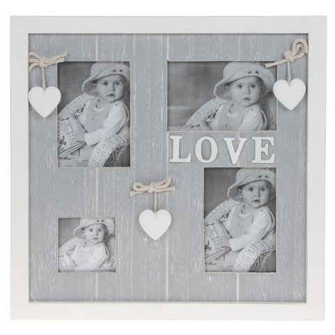 Grey Shabby Chic Collage Frame