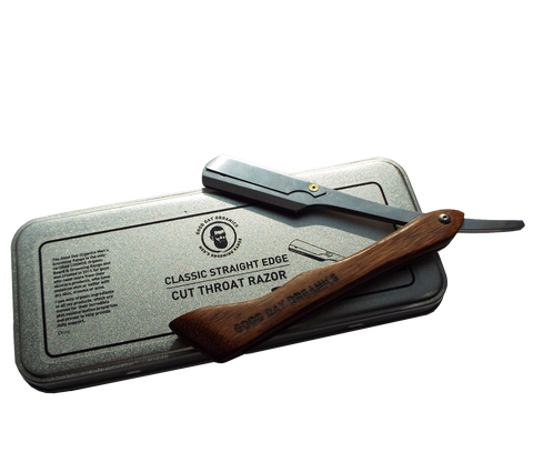 GDO Classic Straight Shavette Razor (inc. blades) - Good Day Organics Ltd