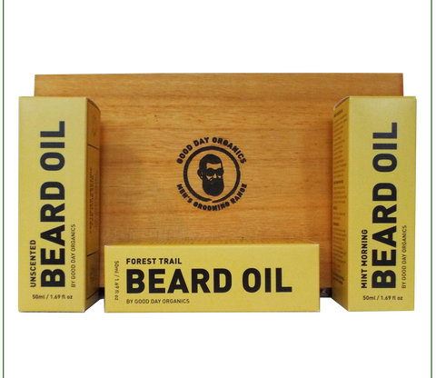 Organic Beard Oil Gift Set (Personalised)