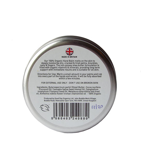 Organic Hand Balm - with Tea Tree & Chamomile - Good Day Organics Ltd