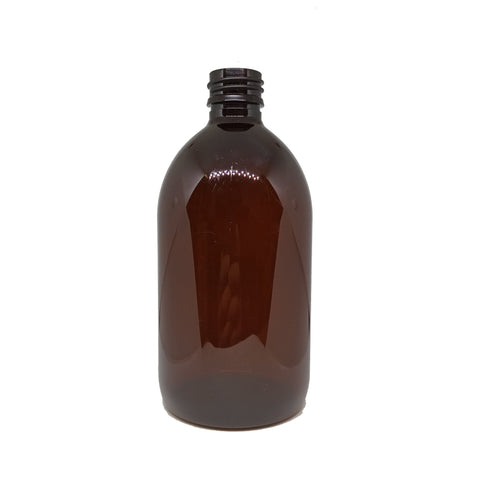 500ml Amber Sirop Bottle PET (5 pack) - Good Day Organics Ltd