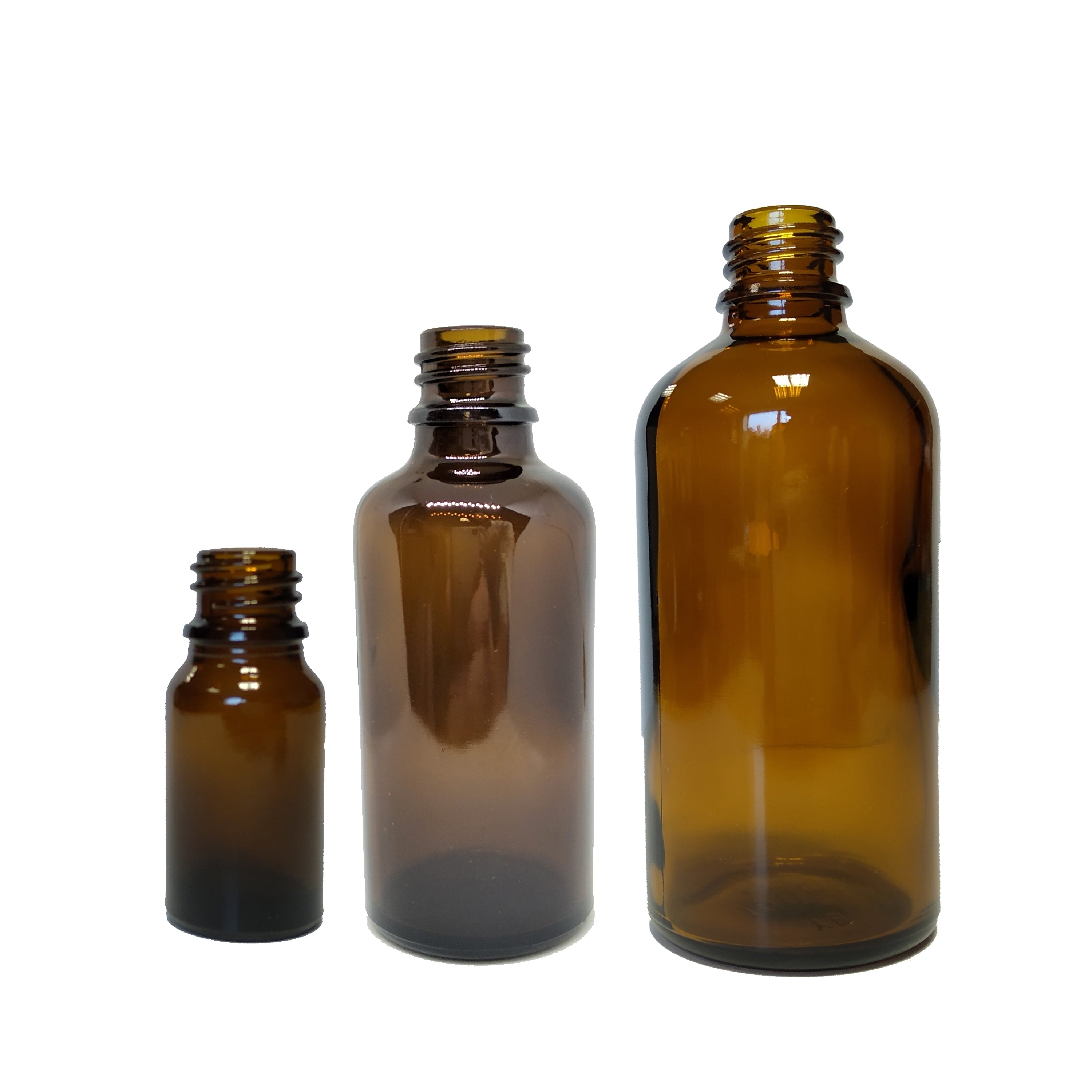 10ml / 50ml / 100ml Glass Amber Bottle (Pack of 20)