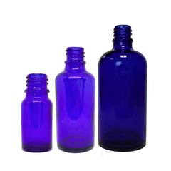 10ml / 50ml / 100ml Glass Blue Bottle (Pack of 20) - Good Day Organics Ltd