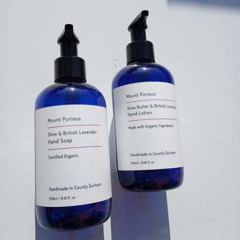 Organic Lavender Liquid Hand Soap & Hand Lotion Set - Good Day Organics Ltd