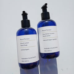 Organic Lemon Liquid Hand Soap & Hand Lotion Set - Good Day Organics Ltd