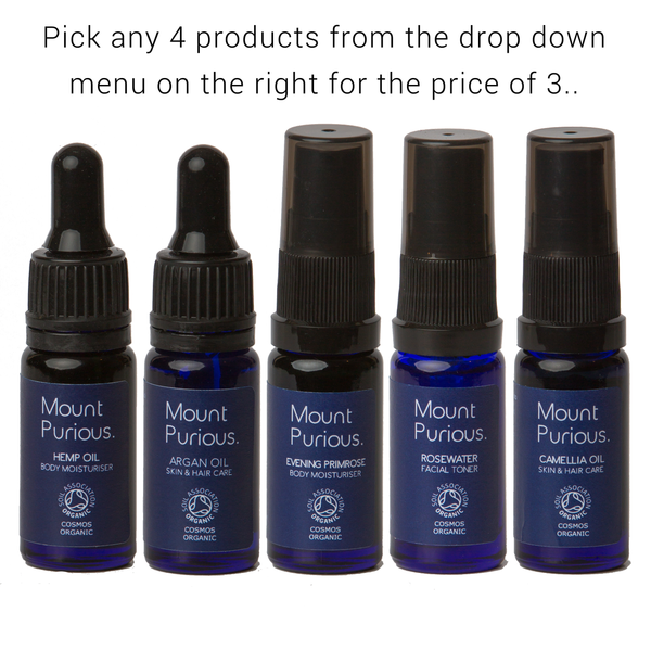Pick any 3 10ml Travel Size and get a 4th free
