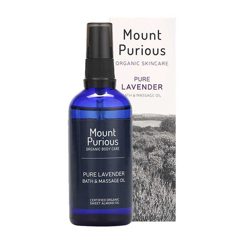 British Lavender Bath & Massage Oil - (100ml) - Good Day Organics Ltd
