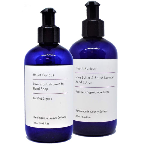 Organic Lavender Liquid Hand Soap & Hand Lotion Set