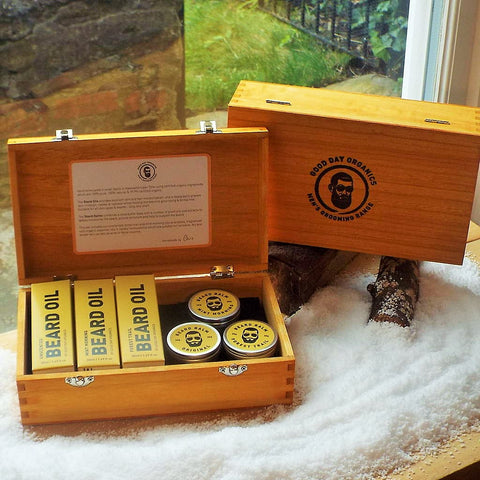 Complete Organic Beard Oil Gift Set (3 x 50ml, 3 x 30g)