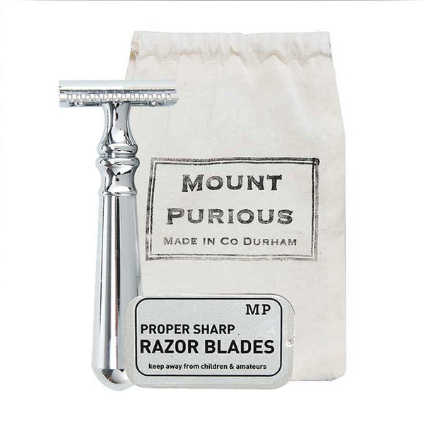 Mount Purious Classic Safety Razor (inc. blades)