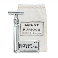 Mount Purious Classic Safety Razor (inc. blades) - Good Day Organics Ltd