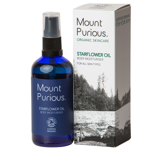 100% Pure Starflower Oil - Mature Skin Body Moisturiser (100ml) - Good Day Organics Ltd