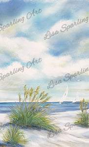 """Afternoon Breeze I"" Lisa Sparling Art Giclée Reproduction"