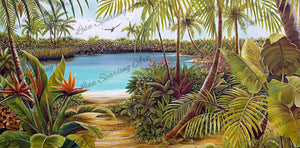 """Blue Lagoon"" Lisa Sparling Giclée Reproduction"