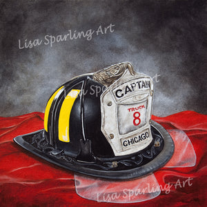 """Captain"" Acrylic Lisa Sparling Original Commission Piece"