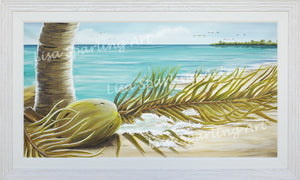 """Coconut Coast I & II"" Pair of Acrylic Lisa Sparling Originals"