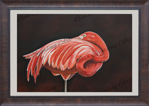 """Outstanding"" Flamingo Giclée Reproduction"