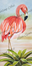 """Flamingo II"" Lisa Sparling Art Giclee Reproduction"