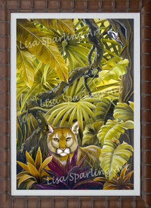 """Florida Panther"" Acrylic Lisa Sparling Original"