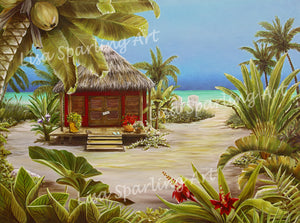 """Gone To The Beach"" Acrylic Lisa Sparling Original Commission Piece"