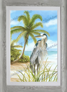 """Blue Heron"" Lisa Sparling Art Giclée Reproduction"