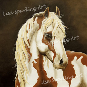 """Horse"" Acrylic Lisa Sparling Original Commission Piece"
