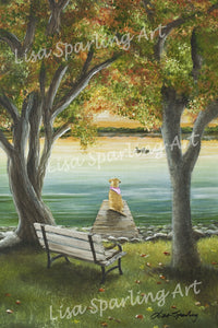 """Lucy on the Dock"" Acrylic Lisa Sparling Original Commission Piece"