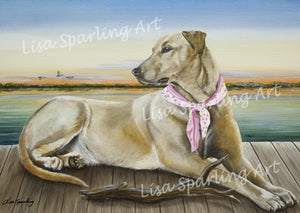 """Lucy"" Acrylic Lisa Sparling Original Commission Piece"