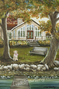 """Lucy at the Cottage"" Lisa Sparling Original Commission Piece"