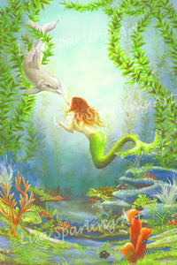 "Mermaid ""Underwater Fantasy"" Giclee Reproduction"