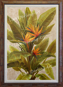 """Orange Bird of Paradise"" Acrylic Lisa Sparling Original"